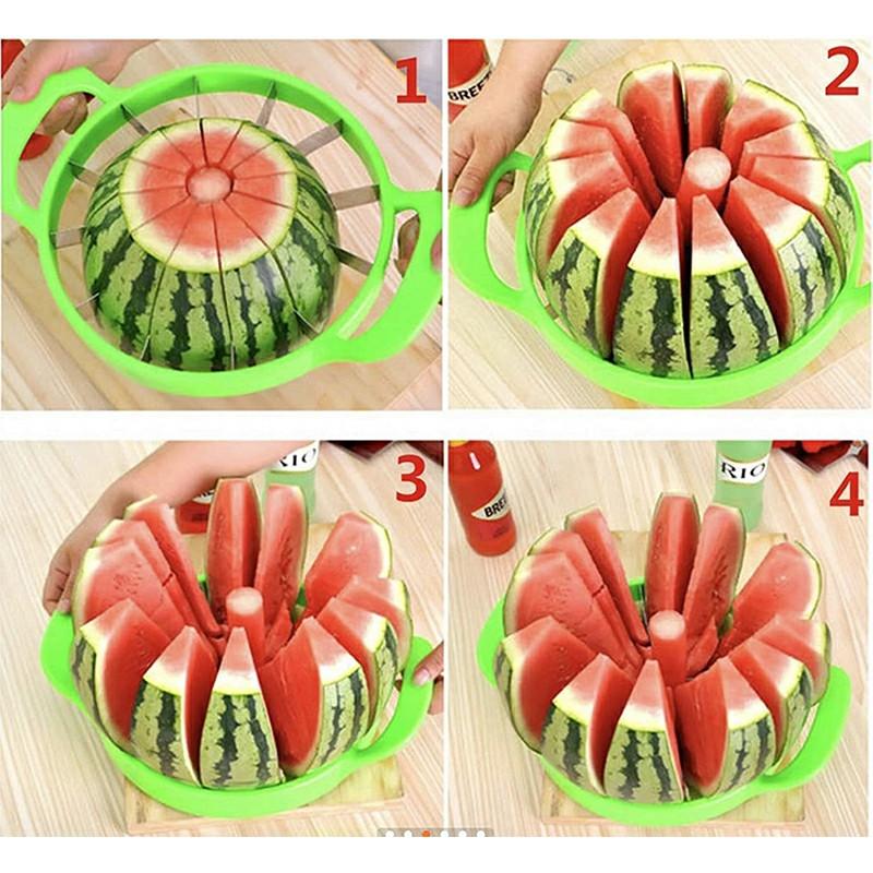 Watermelon Slicer Stainless Steel Fruit Cutter Kitchen Gadgets