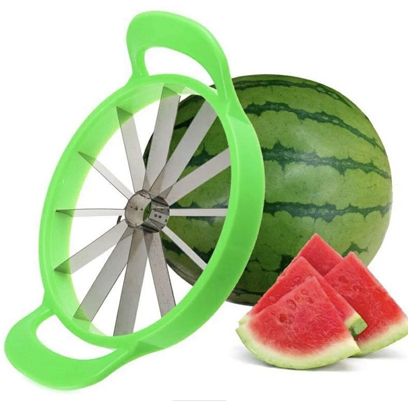 Watermelon Slicer Stainless Steel Fruit Cutter Kitchen Gadgets