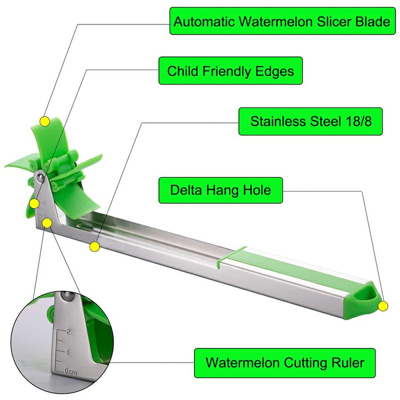 Stainless Steel  Watermelon Slicer Cutting Machine Fruit Knife Vegetable Salad Utility Tool