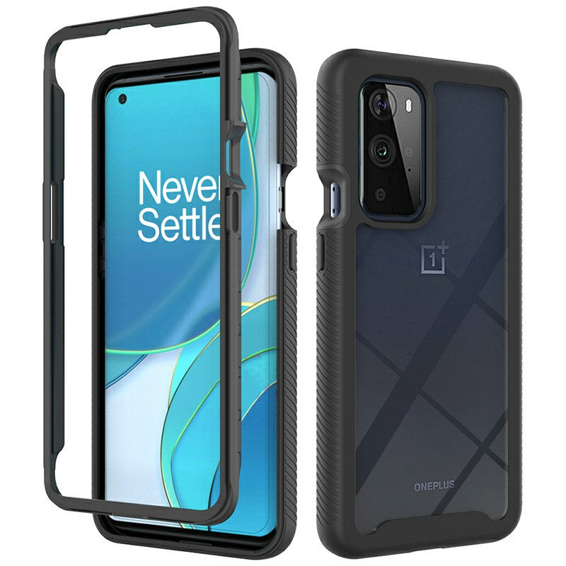 360 Full Body Slim Armor Case with Front Frame for OnePlus 9 Pro - Black