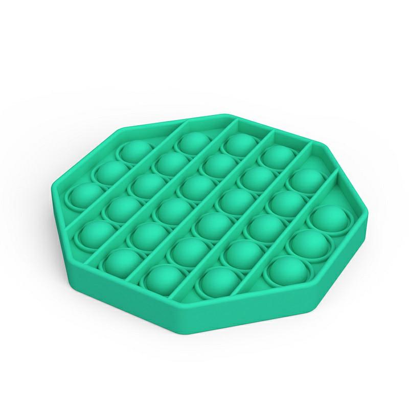 Octagon Pop it Fidget Board Unzip Product Stress Relief - Green