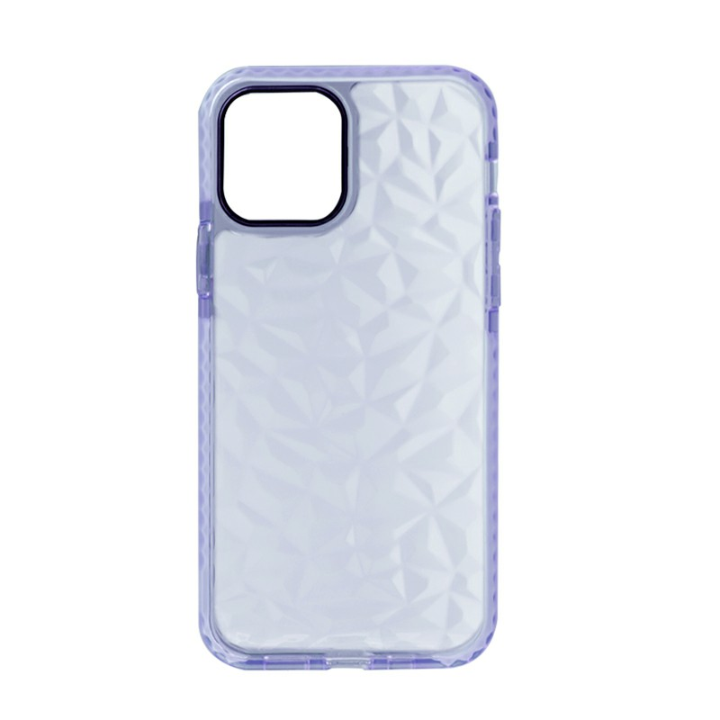 Slim Silicone Clear TPU Back Case for iPhone 12/iPhone 12 Pro - Blue