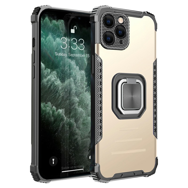 Heavy Duty Rugged Armor TPU + PC Combination Case for iPhone 11 Pro - Gold