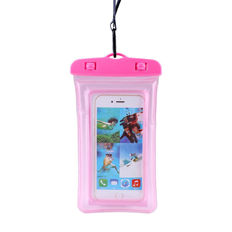 Universal 6.8 inch Shockproof Underwater Diving Waterproof Phone Pouch Bag Cases - Pink