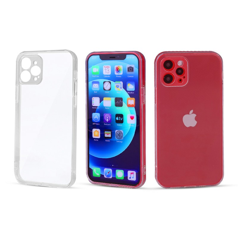 Slim TPU Back Case Shockproof Protective Back Cover for iPhone 12 Pro Max