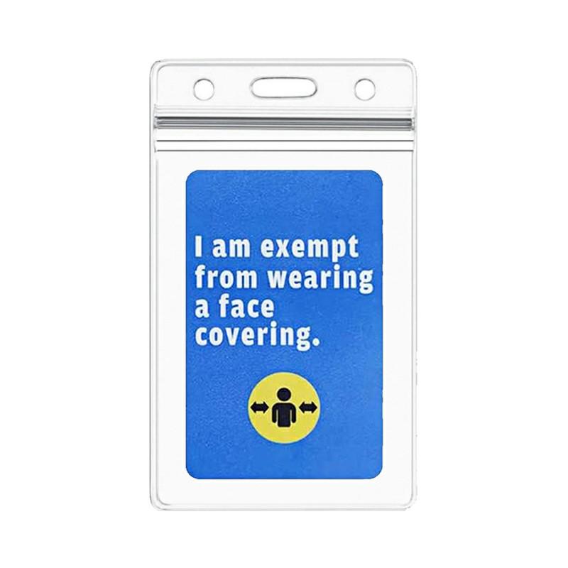 Blue Mask Exemption Card Asthma Exemption Card Holder - Blue Card