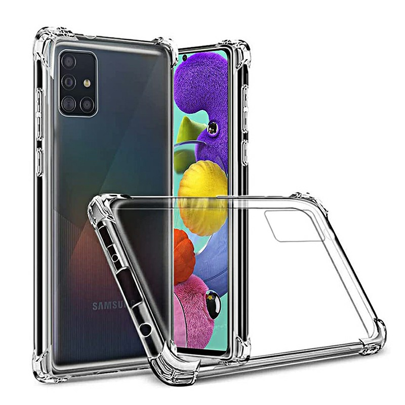 TPU Soft Rubber Skin Silicone Protective Back Case for Samsung Galaxy A51