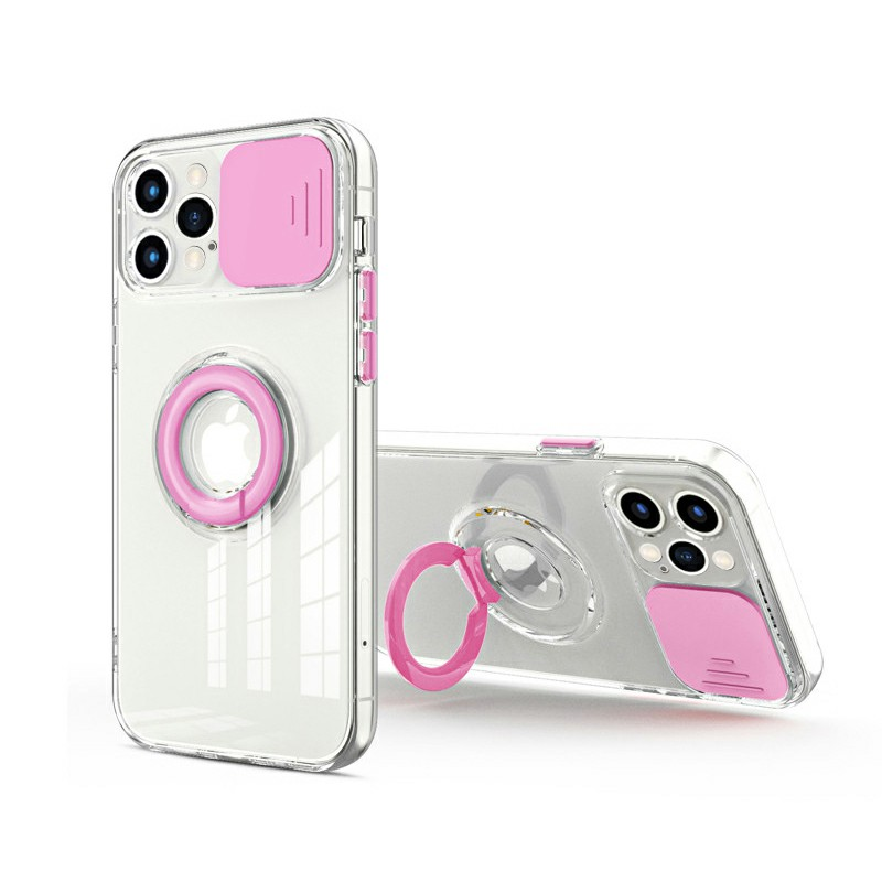 TPU Gel Rubber Shockproof Cover Protective Back Case for iPhone 12 Pro - Pink