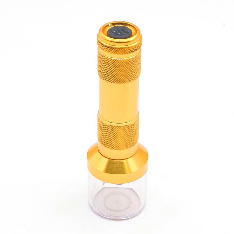 Electric Grinder Herb Tobacco Spice Crusher Muller Cracker Aluminum Metal - Gold