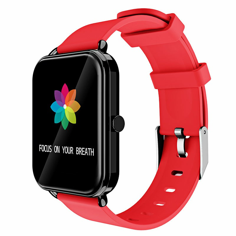 G16 16 inch Full Tentacle Smart Watch Fitness Tracker IPS Calories Heart Rate Sleep Monitor Wrist Band - Red