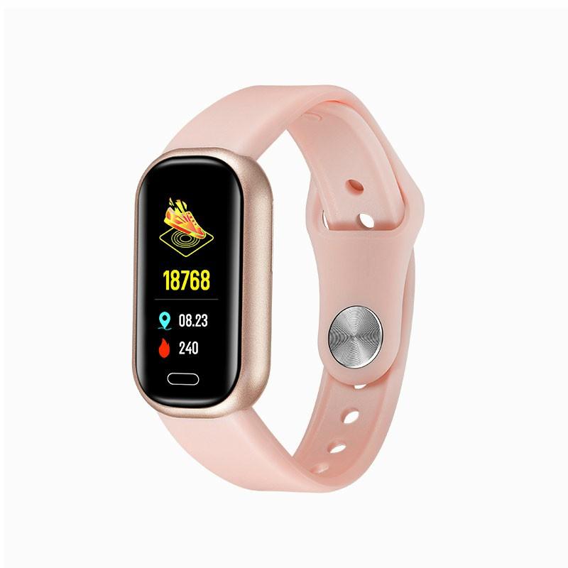 Y16 Bluetooth Call Smart Bracelet Fitness Tracker Smart Watch Wristbands - Pink