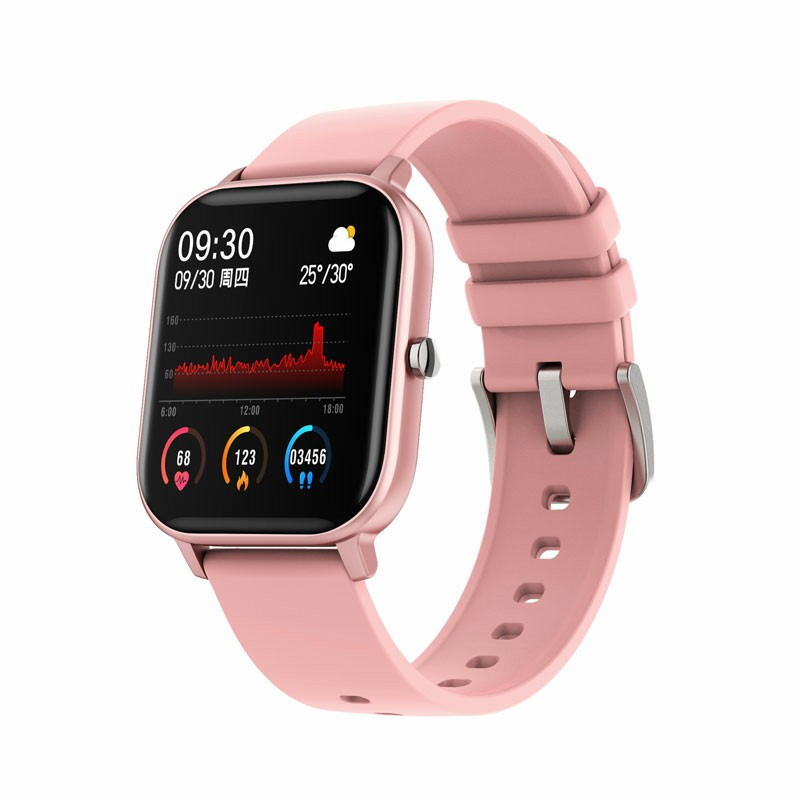 P9 Smart Watch Band Fitness Tracker IPS Calories Heart Rate Sleep Monitor Wrist Band - Hot Pink