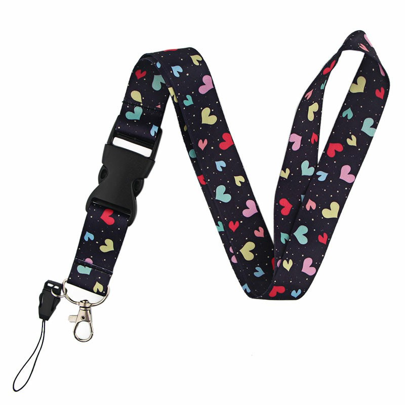 Printed Lanyard Neck Strap for ID Card Phone and Key - Colorful Love