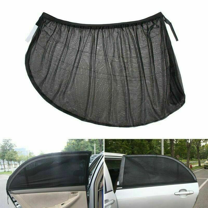 2 pcs Universal Car Sun Mesh Blind Rear Window UV Protector Sun Shade
