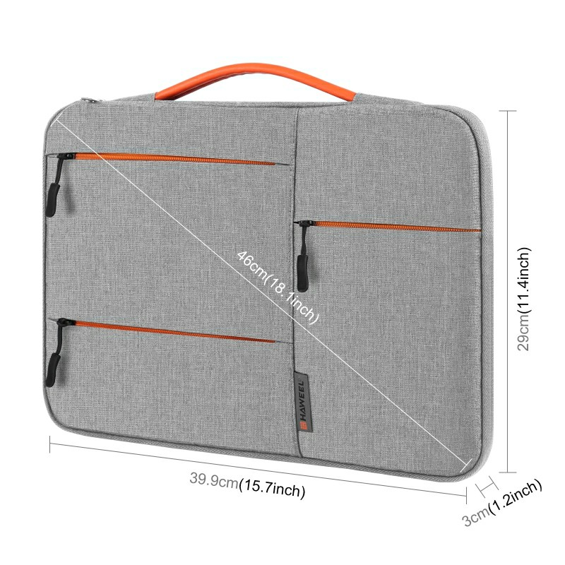 15 inch 360 Degree Protective Laptop Polyester Bag Compatible with 15 Inch Laptop - Grey