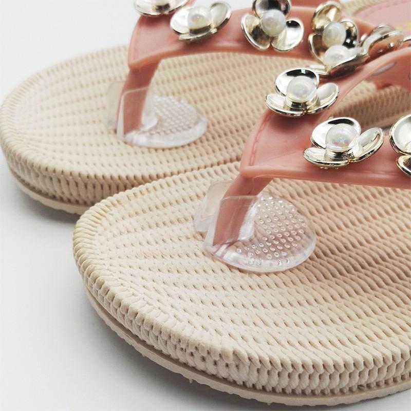 2 pcs Flip Flop Sandals Silicone Gel Toe Guards Shoe Insoles Pad