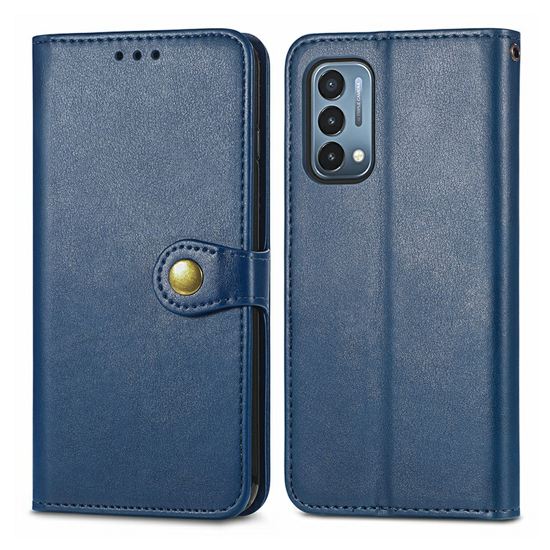 Magnetic PU Leather Wallet Case Cover for OnePlus Nord N200 5G - Blue