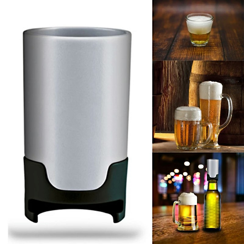 Portable Beer Vibration Foamer Foam Maker Bubbler Cooler Kitchen Tool