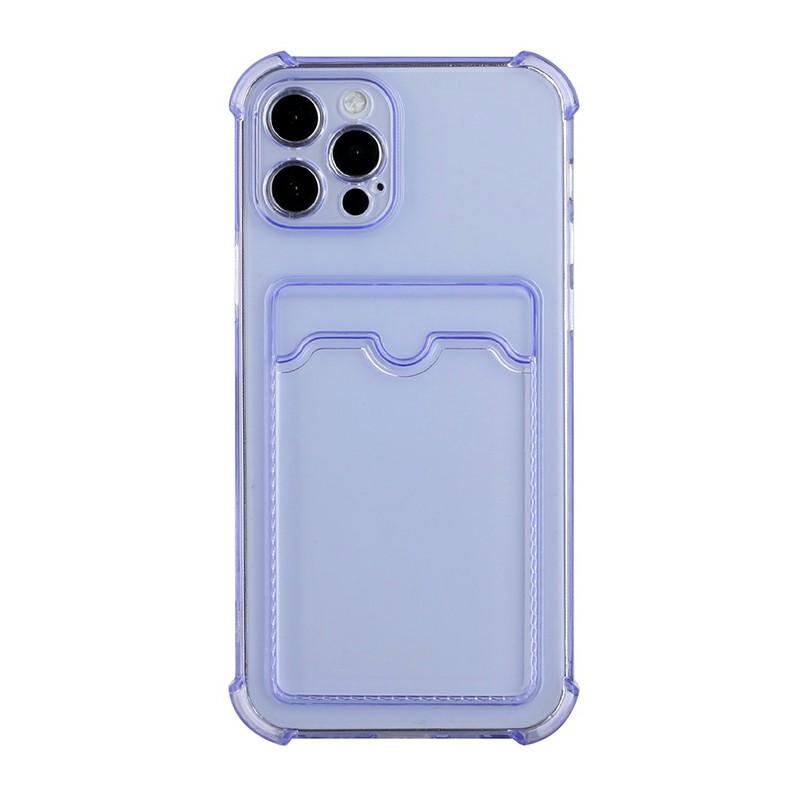 TPU Soft Skin Silicone Protective Case for iPhone 12 Pro Max - Purple