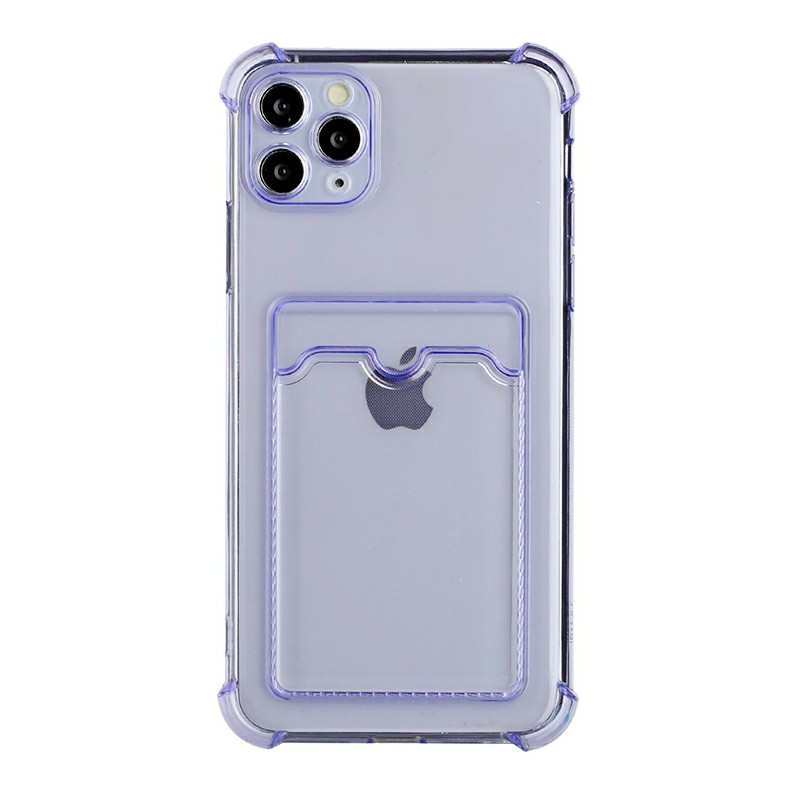 TPU Soft Skin Silicone Protective Case for iPhone 11 Pro - Purple