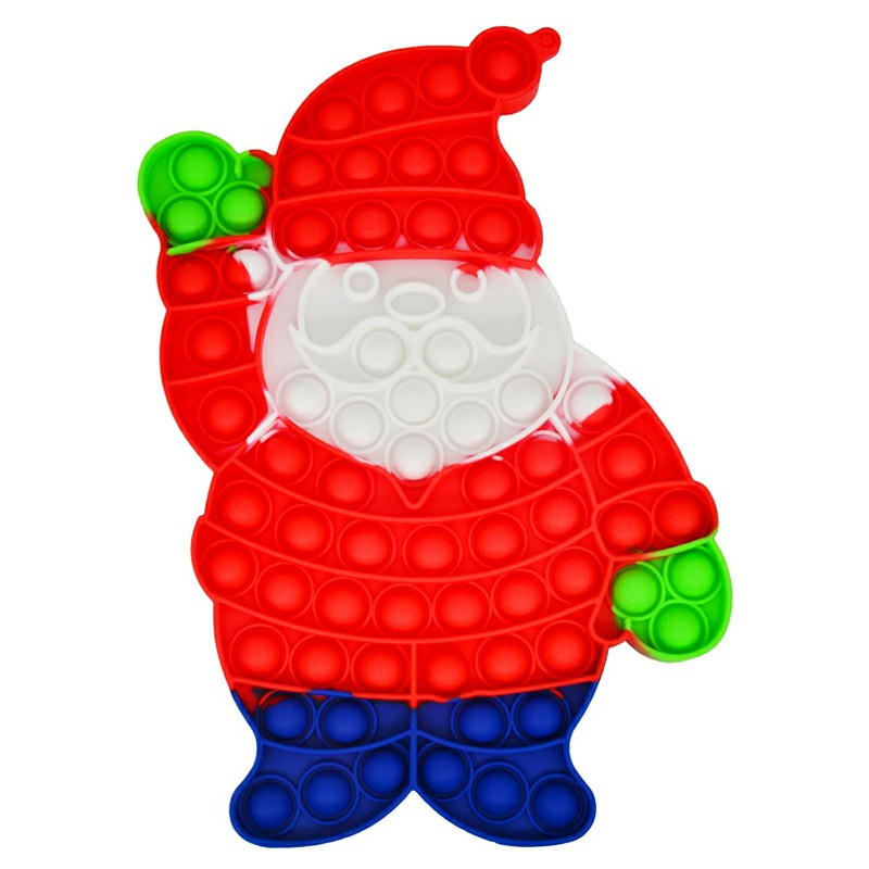Pop it Fidget Santa Claus a Loud Side and a Quiet Side to Pop - Red
