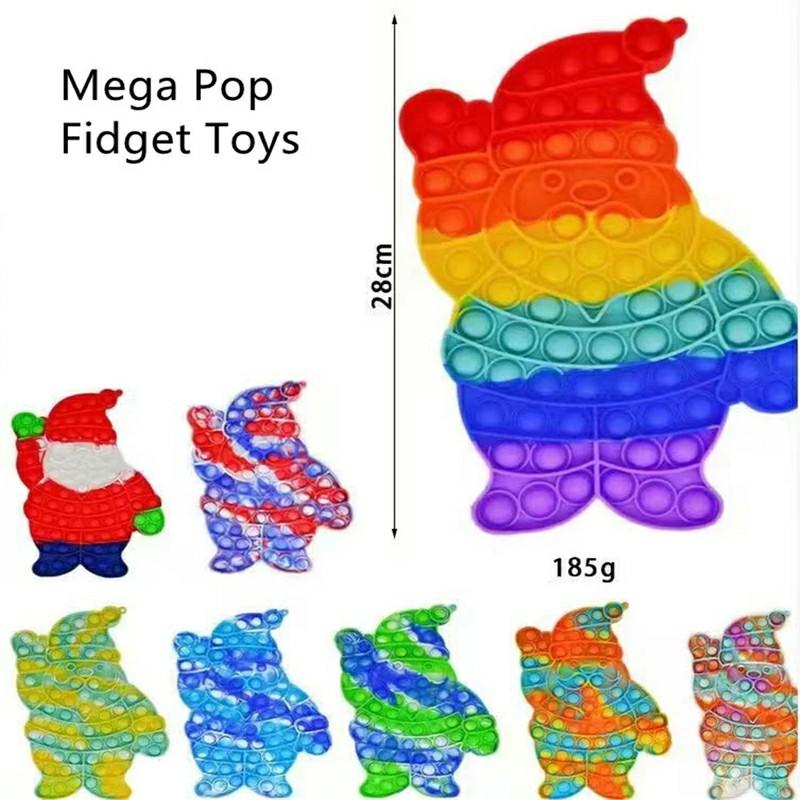 Pop it Fidget Santa Claus a Loud Side and a Quiet Side to Pop - Multicolor