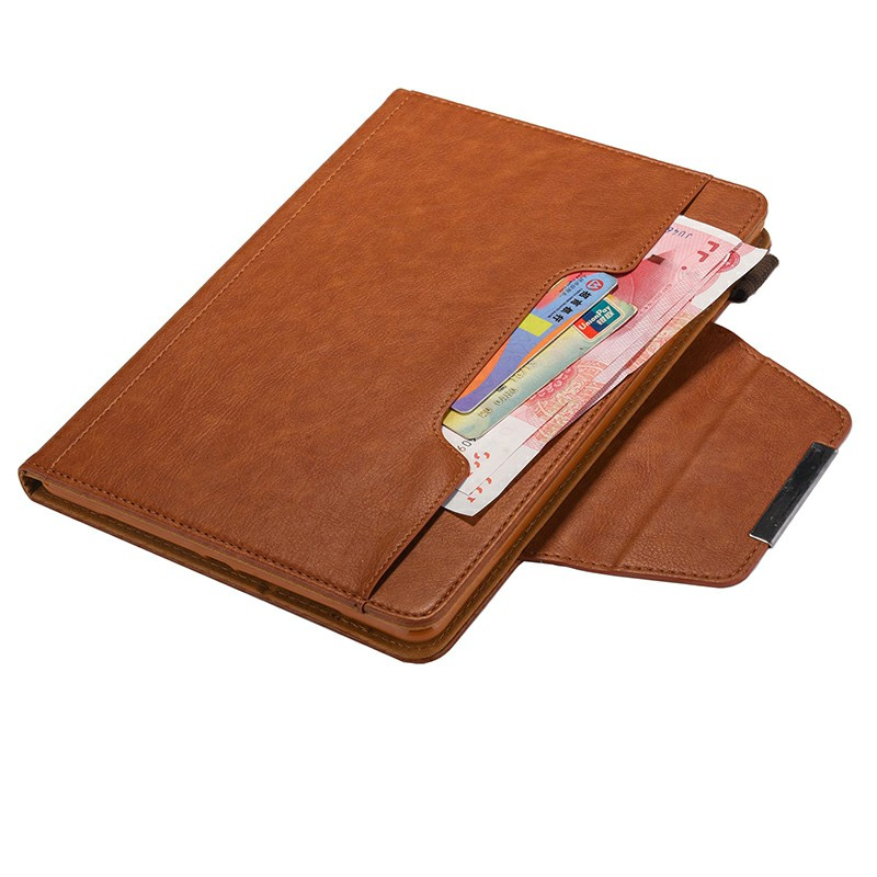 PU Leather Case Flip Stand Protective Cover for iPad Pro 12.9 2021 2020 2018 - Brown