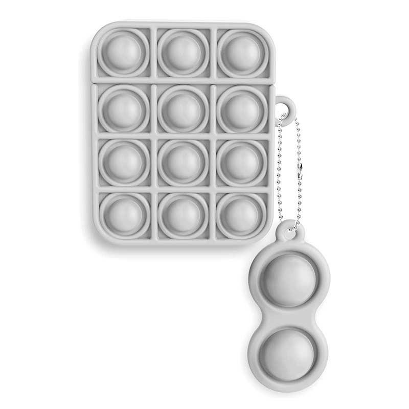 Push Bubble Pop Fidget Sensory Proctective Case for Airpods Pro - Grey