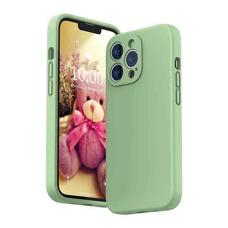 Soft Silicone Gel Rubber Shockproof Cover Case for iPhone 13 Pro Max - Green