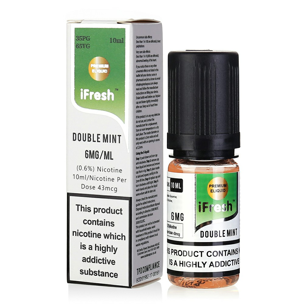 NEW iFresh Premium E-liquid E-juice 10ml - Double Mint