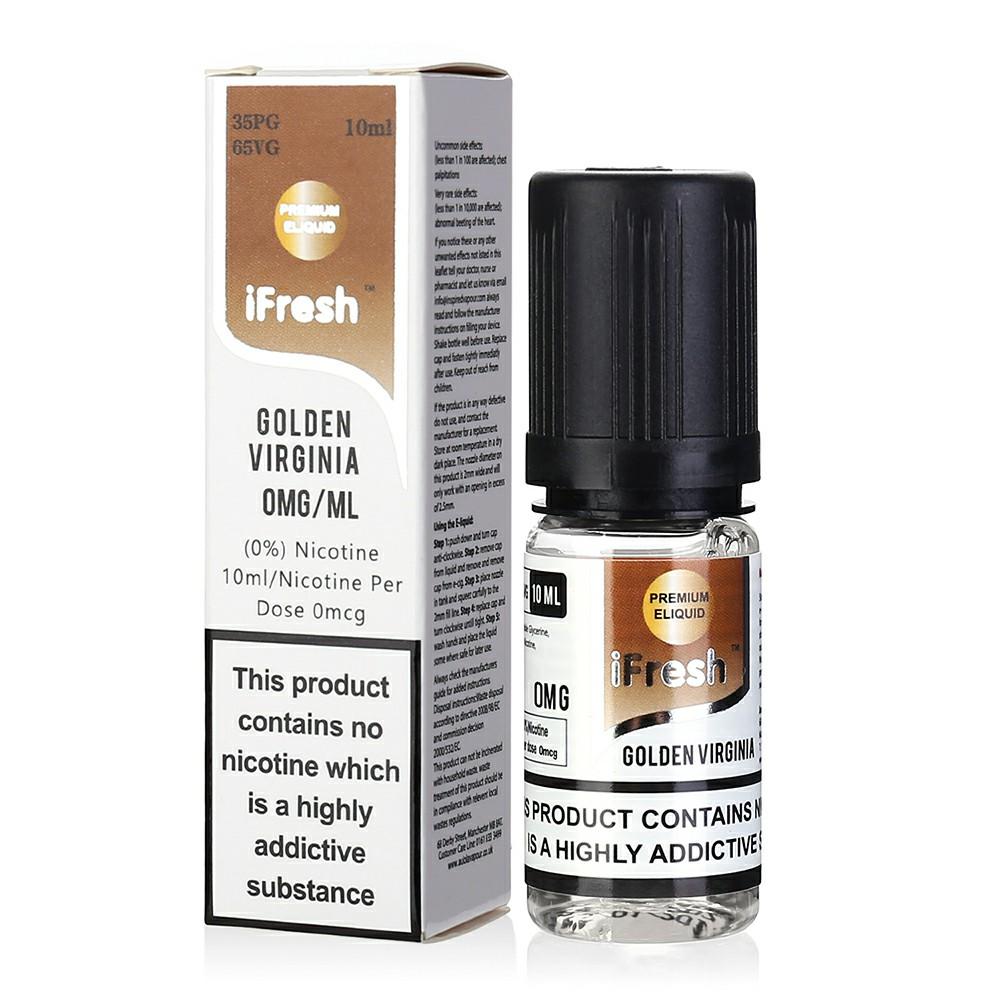 NEW iFresh Premium E-liquid E-juice 10ml - Golden Virginia