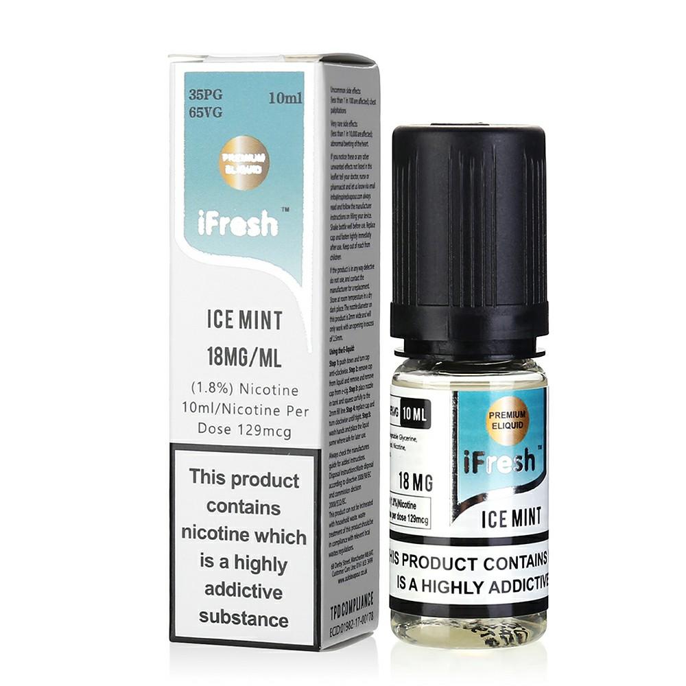 NEW iFresh Premium E-liquid E-juice 10ml - Ice Mint