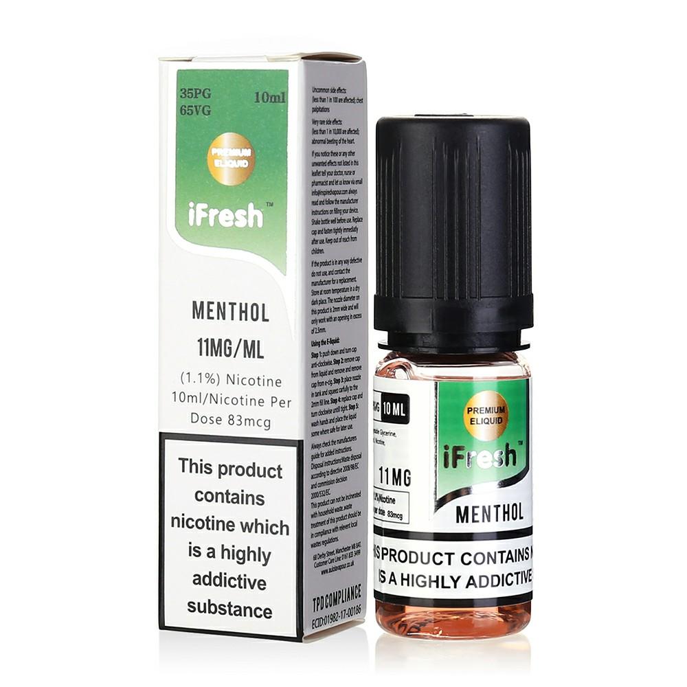 NEW iFresh Premium E-liquid E-juice 10ml - Menthol