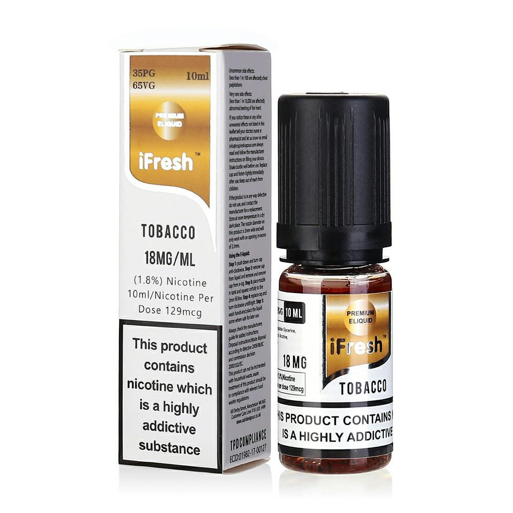 NEW iFresh Premium E-liquid E-juice 10ml - Tobacco